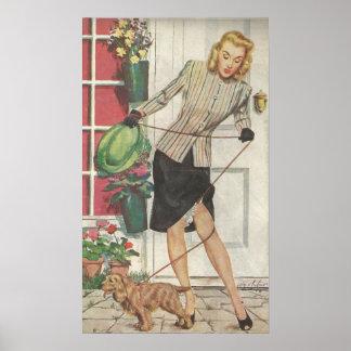 Poster Publicité 1946 de tuyau de culotte