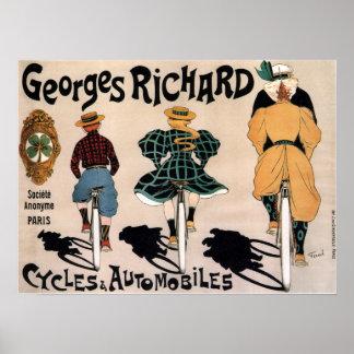 Poster Publicité française vintage de bicyclette