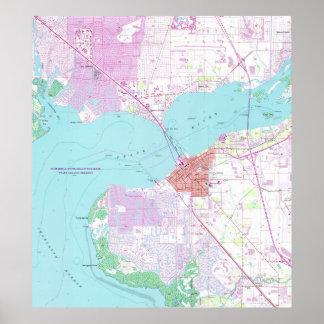 Poster Punta Gorda et port Charlotte la Floride Map