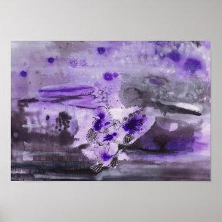 Poster Purple ink illustration - Turkey