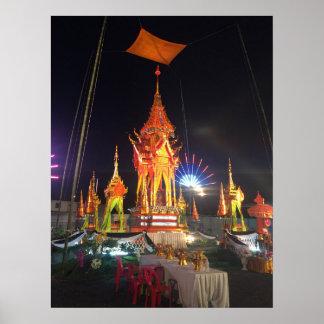 Poster Pyre funèbre chez Wat Chetta Woracoop, Chiang Mai