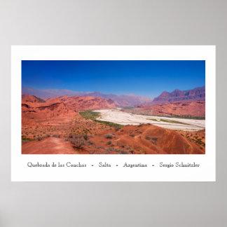 Poster Quebrada de las Conchas - Salta - l'Argentine