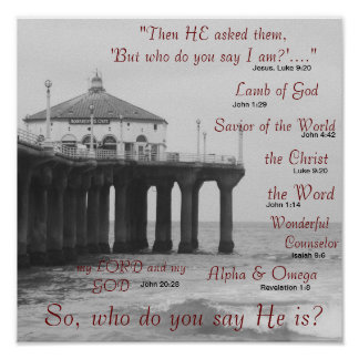Poster Qui dites-vous le Jésus-Christ est-vous ?