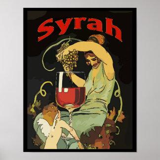 Poster Raisins de Syra, vin