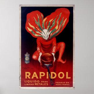 Poster Rapidol, la publicité espagnole polonaise en métal
