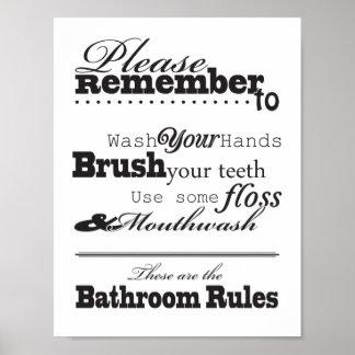 Poster Rappelez-vous svp de laver vos mains et d'autres