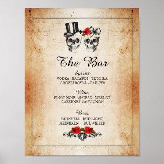 Poster Réception de mariage rustique de signe de