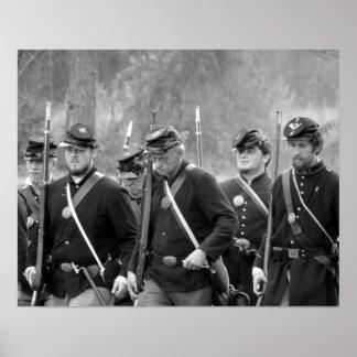 Poster Reconstitution de guerre civile - soldats des