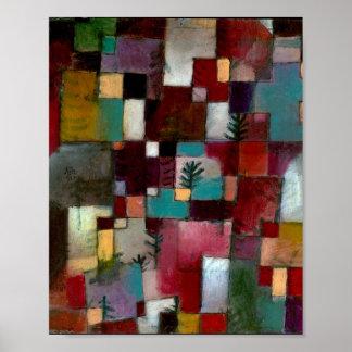 Poster Redgreen et rythme Violet-Jaune : Paul Klee 1920