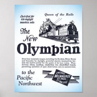 Poster Reine des rails - nouvel Olympien 1929