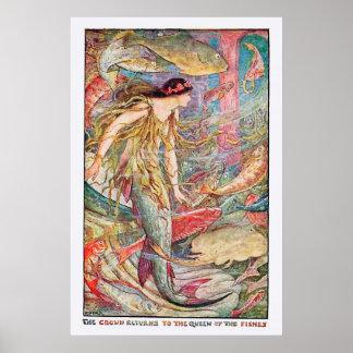 Poster Reine sous-marine des poissons