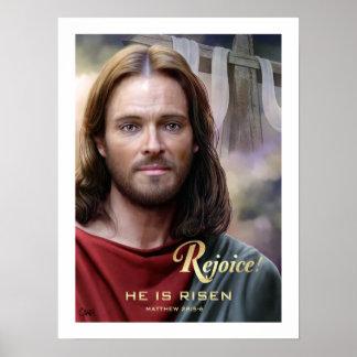 Poster Réjouissez-vous. Jésus est levé. par la copie