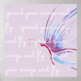 Poster Répandez vos ailes et volez