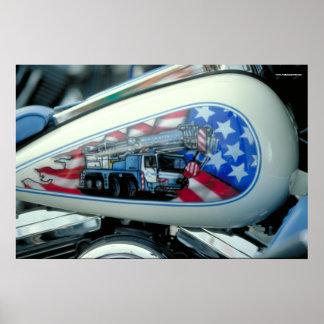 Poster Réservoir de carburant de Harley - S.D.