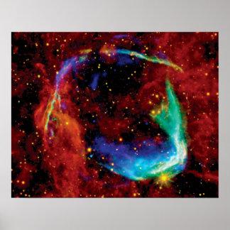 Poster Reste de supernova de RCW 86 - photo de l'espace