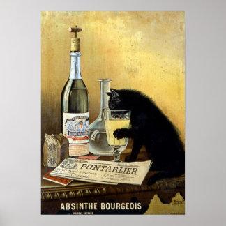 """Poster Rétro affiche française """"bourgeois d'absinthe """""""
