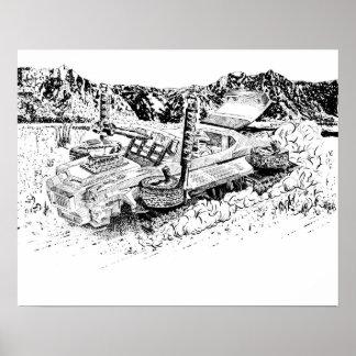 Poster Rétro réservoir du jouet GTO/Armoured