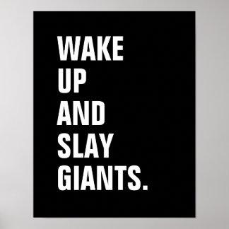 Poster Réveillez et massacrez l'affiche de Giants