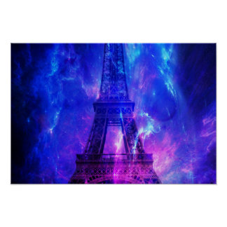 Poster Rêves d'améthyste de Paris du ciel de la création