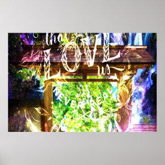 Poster Rêves parisiens d'arc-en-ciel de ceux qui nous