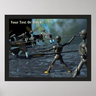 Poster Robots d'âge du bronze
