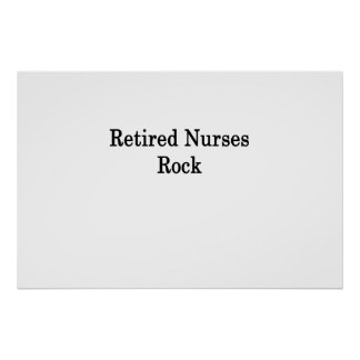 Poster Roche retirée d'infirmières