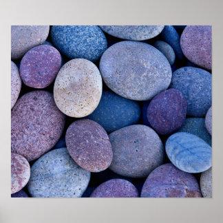 Poster Roches bleues en pierre