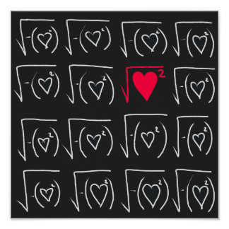 Poster Romance de geek de maths : trouvez le vrai amour