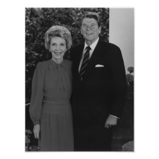Poster Ronald et Nancy Reagan