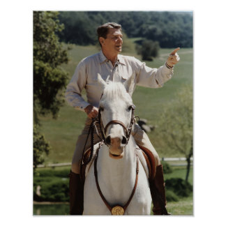 Poster Ronald Reagan à cheval