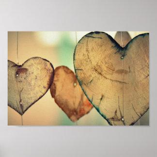 Poster Rondins de coeur d'amour