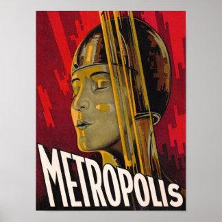 Poster Rouge de métropole