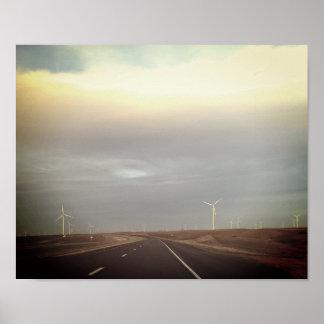 Poster Route de moulin à vent