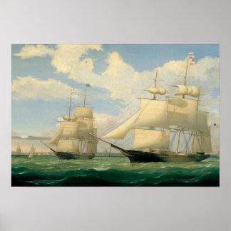 """Poster Ruelle de Fitz Henry - les bateaux """"flèche à ailes"""