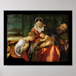 Poster Saint Catherine et Mary de Jésus de bébé