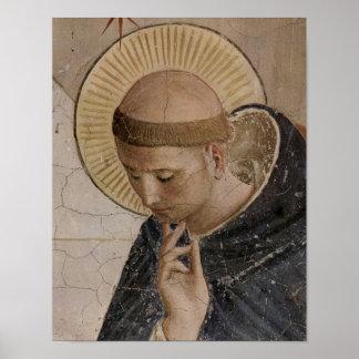 Poster Saint Francis d'Assisi dans la contemplation