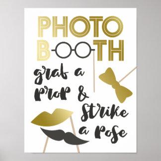 Poster Saisissez une cabine avec du charme de photo d'or