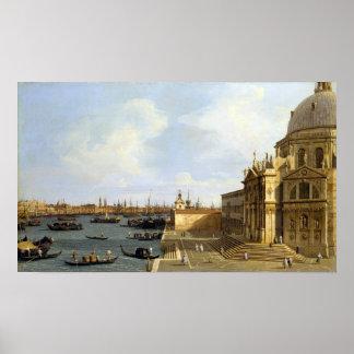 Poster Salut de della de Canaletto Venise Santa Maria