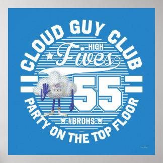 Poster Salut de type de nuage des trolls  