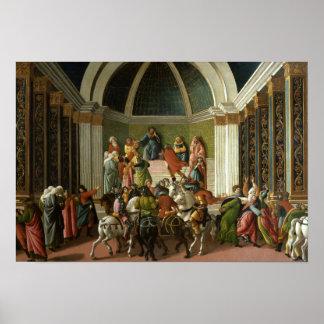 Poster Sandro Botticelli - l'histoire de la Virginie