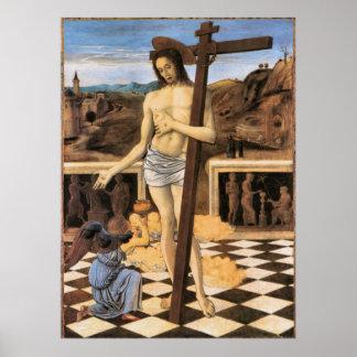 Poster Sang d'affiche d'ange de Bellini Jésus de