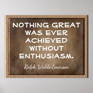 Poster Sans citation de _Emerson d'enthousiasme - copie