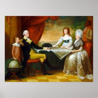 Poster Sauvage d'Edouard la famille de Washington