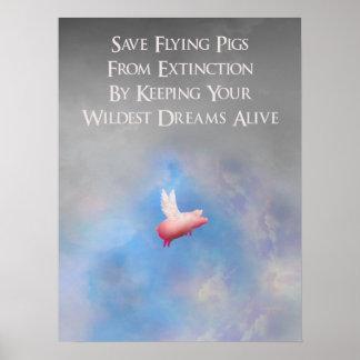 Poster Sauvez les porcs de vol