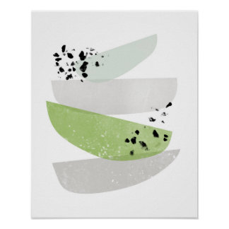 Poster Scandinave, copie abstraite d'affiche de verdure