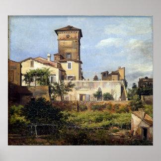Poster Scène de Johan Christian Dahl de la villa Malte