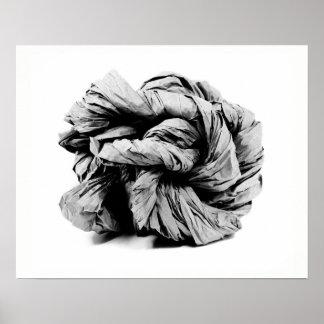 Poster Sculpture de papier