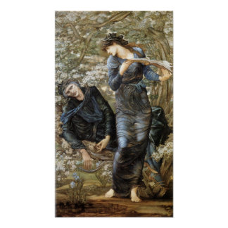 Poster Séduction d'Edward Burne-Jones de MERLIN