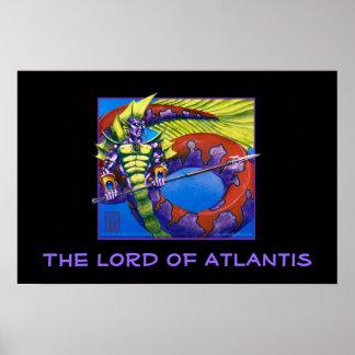 Poster Seigneur de l'Atlantide sur la copie noire