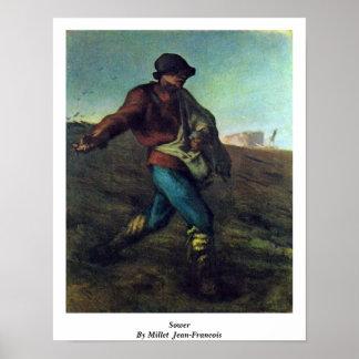 Poster Semeur par le millet (ii), Jean-Francois